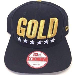"""""""GOLD"""" New Era 9FIFTY Men's Blue Original Snapback"""